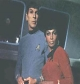 Spock and Uhura from Star Trek, the old series.