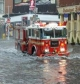 Firetruck in flood