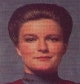 Captain Kathryn Janeway of Star Trek Voyager - mostly we just griped about the lousy script, the stupid looking aliens and bemoaned the overall gist (i.e. 'Lost in Space'), but, then again, we never missed an episode either.